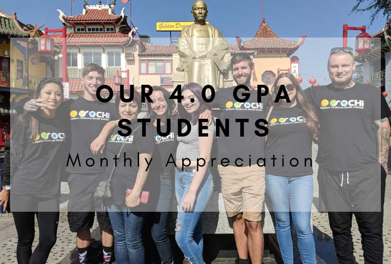 student appreciation with GPA 4.0